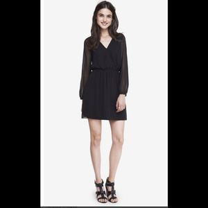 Express Surplice long sleeve  dress